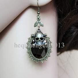Livraison gratuite européenne et américaine bijoux Halloween festival de fantômes tête de mort tête boucle d'oreille style rétro boucles d'oreilles élégant classique exquise elega