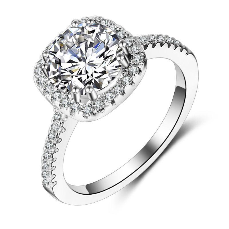 bague argent avec un diamant