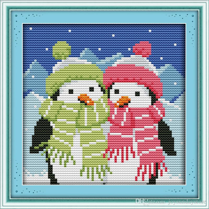 Couple Handmade Needlework Counted Home Decor Cross Stitch Embroidery Kit 14CT