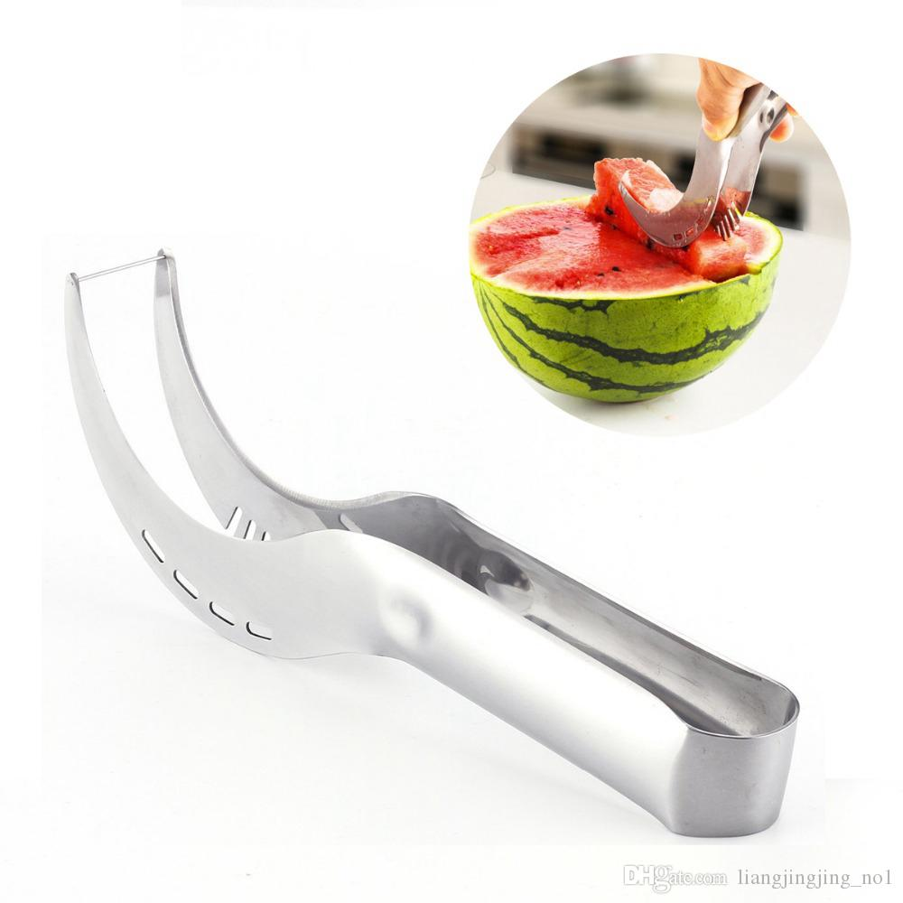 Stainless Steel Watermelon Slicer Cutter Melons Knife Cutter Corer Scoop Fruit Vegetable Tools Kitchen Gadgets OOA5191