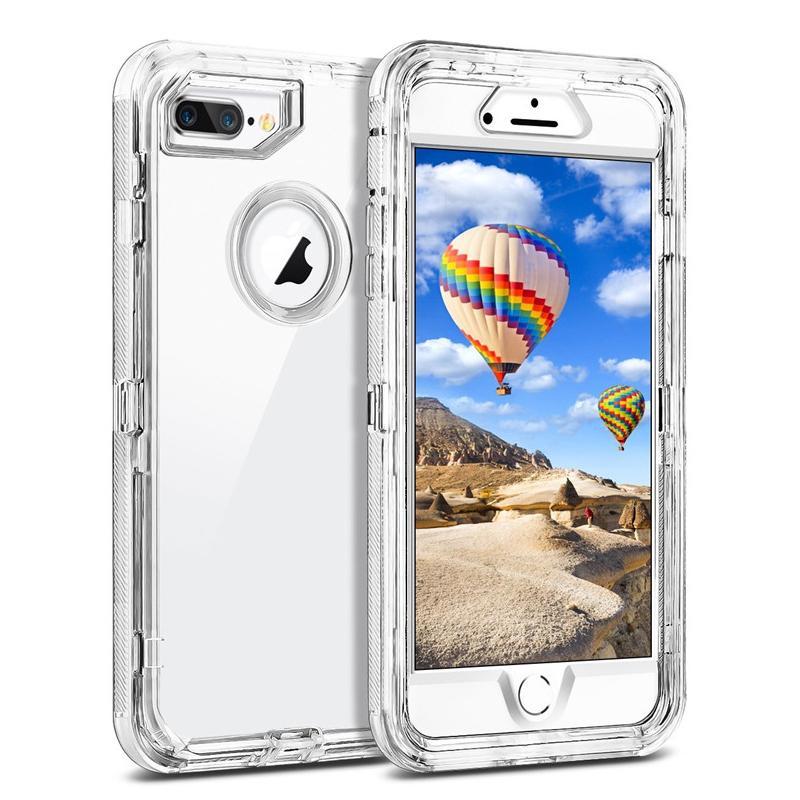 Iphone için 11 Vaka 3in1 Defender Kılıf Yumuşak TPU Tampon Temizle Hibrid Arka Kapak İçin Samsung S20 S20 Ultra S20plus