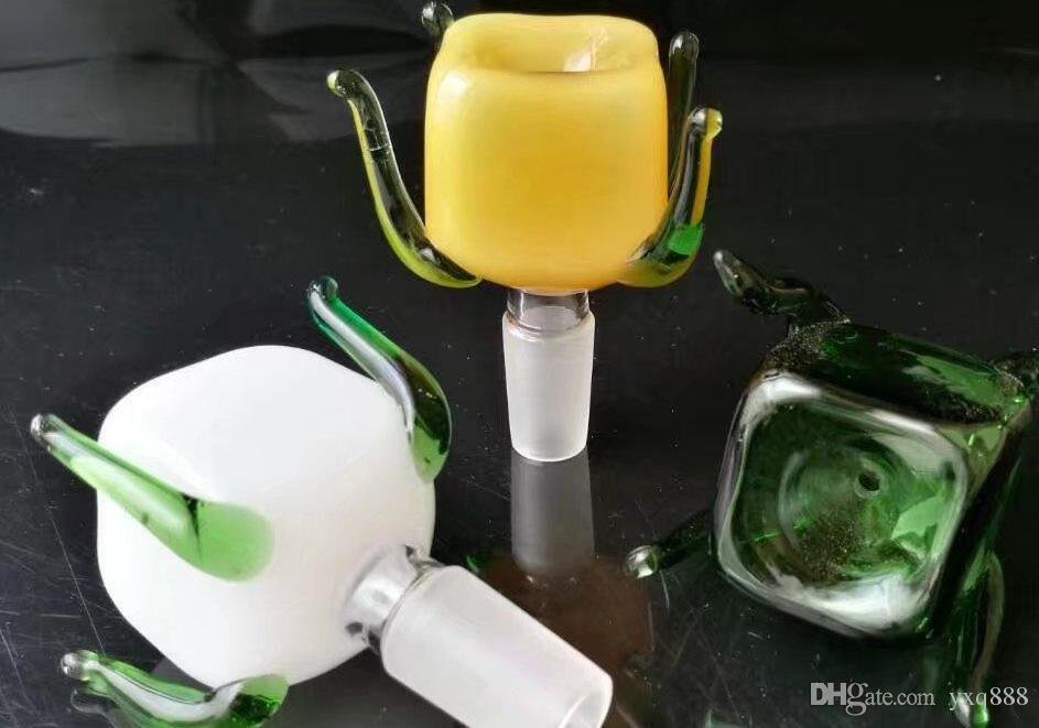 Adaptador de cristal europeo y americano de cuatro mordazas de color caliente de 14 mm macho
