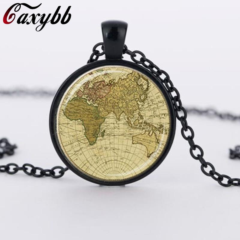 2018 fashion vintage 2016 glass dome jewelry globe necklace planet fashion vintage 2016 glass dome jewelry globe necklace planet earth world map necklace art glass dome gumiabroncs Image collections