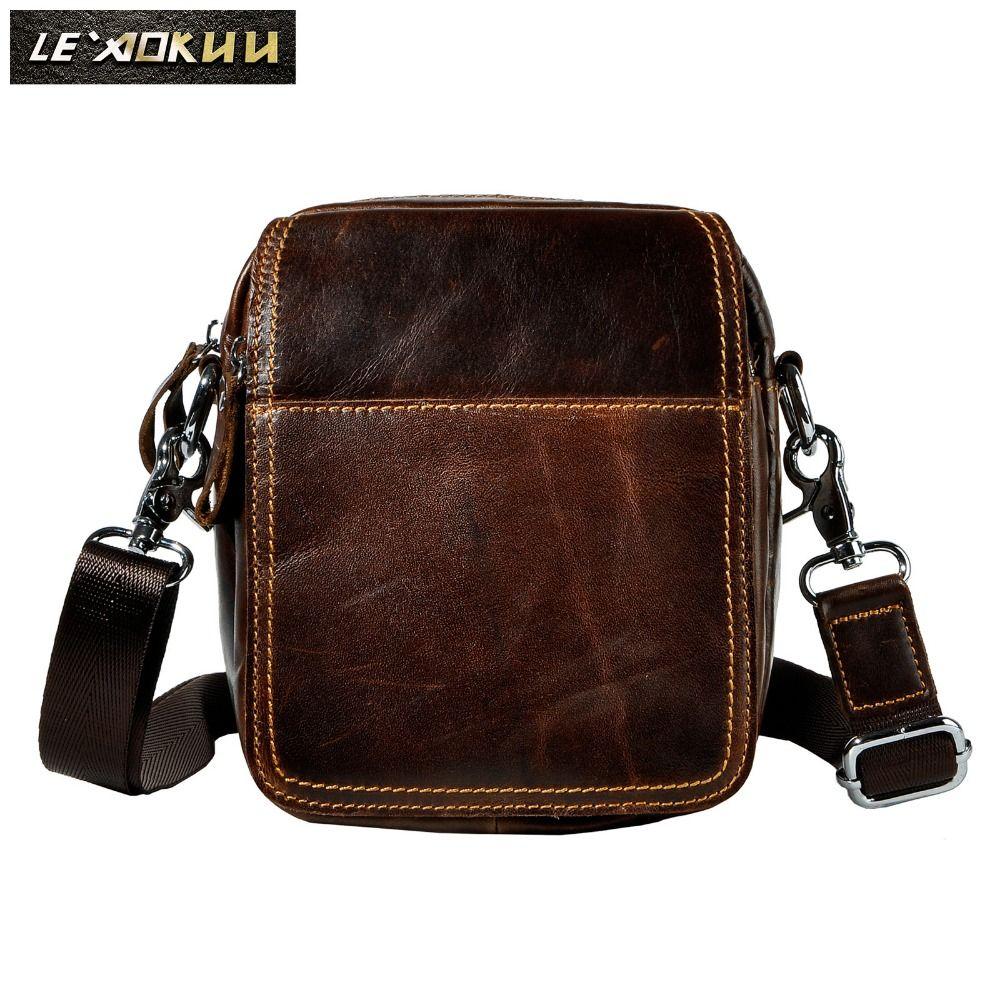 Diseño de Moda de Cuero Masculino Casual Multifunción Cinturón de Cintura de Viaje Bolsa de Mensajero Satchel Crossbody bolsa de Hombro Para Hombres 814-9