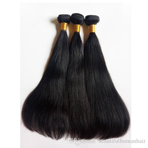 Special high-end hair shop Full cuticle Brazilian virgin hair doubie weft 8-28inch Rare and best quality Indian remy human Hair extensions