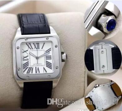 Excellente nouvelle qualité sportive 100 xl Montre mécanique automatique de luxe de luxe pour hommes de luxe pour hommes Date Sports 40mm Bandwatches de bracelet en cuir