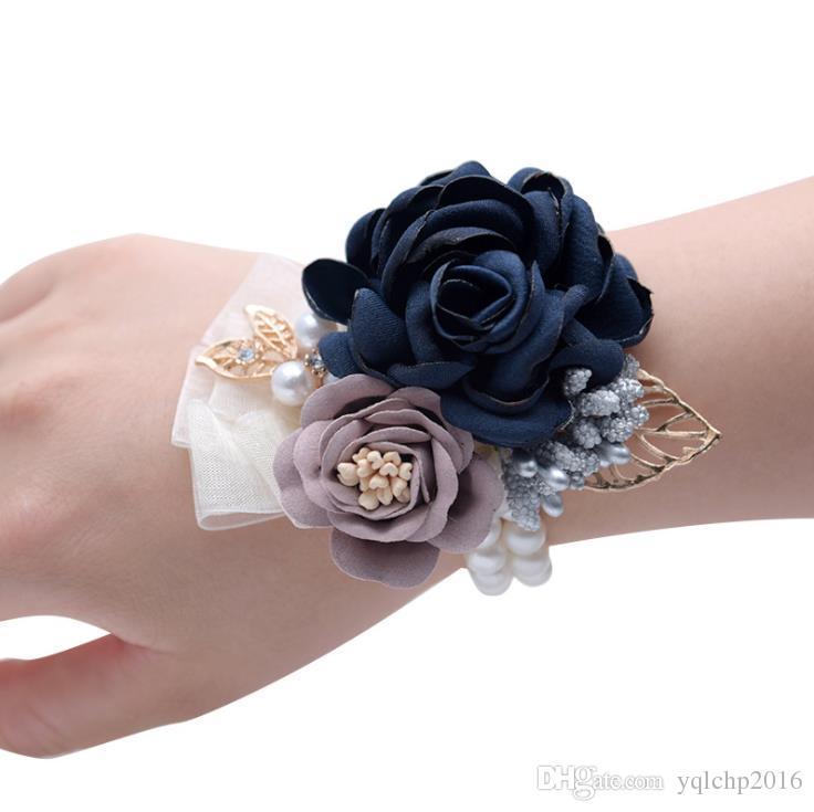 Свадебные принадлежности свадебные украшения цветок корейский невеста моделирование цветок невесты запястье цветок экспорт
