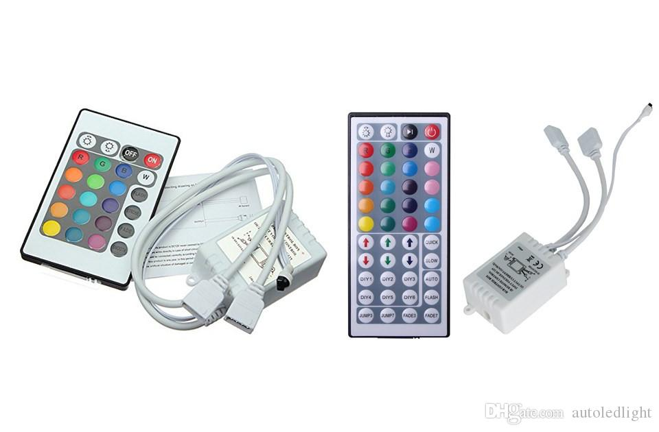 Mini IR Remote Controller 2 Ports DC 12V For RGB SMD 5050 3528 Led Strip Wireless 24 Keys 44 Keys