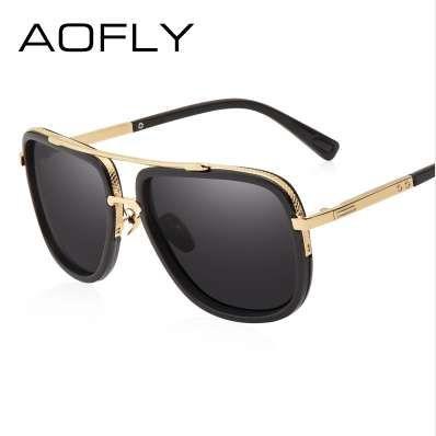 AOFLY Novos Homens Da Moda Polarizada Óculos de Sol Masculino Design Da Marca Lente Polaroid Luxo Óculos De Sol de Alta Qualidade Oculos De Sol AF8035
