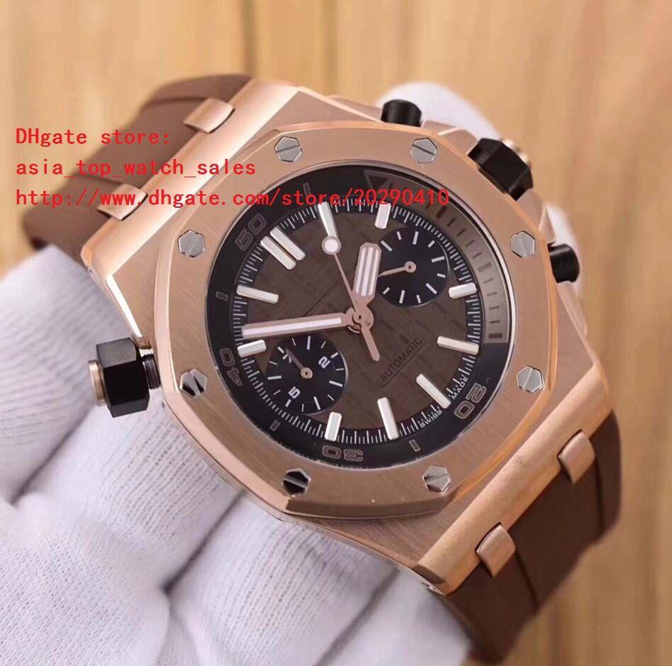 6 colores de la última versión relojes 42mm 18 k oro Mecánico automático de alta calidad reloj para hombre NO Cronógrafo