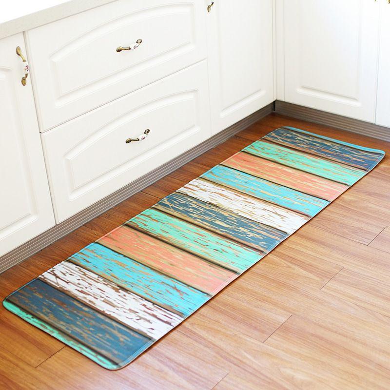 Kitchen Floor Mat Vintage Wood Panel Decor Non Slip Kitchen Carpet Bathroom Absorbent Doormat Bedside Rug 55x160cm Oversized Outdoor Pillows Patio Lounge Cushions From Tinaya 17 89 Dhgate Com
