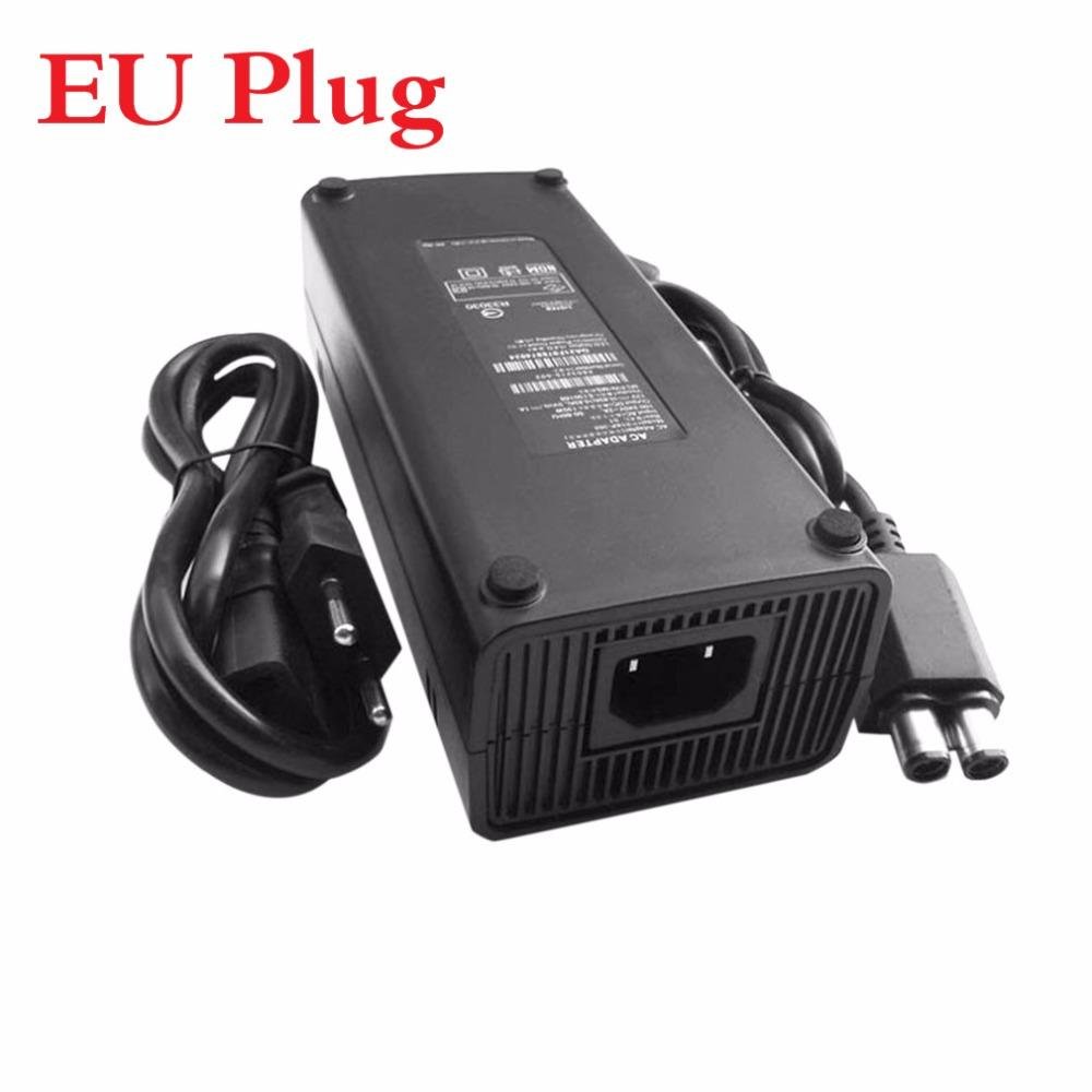 Freeshipping AC 100-240V Adapter Power Supply Charger Cable for X-BOX 360 Slim Ideal Replacement Charger With LED Indicator Light EU Plug