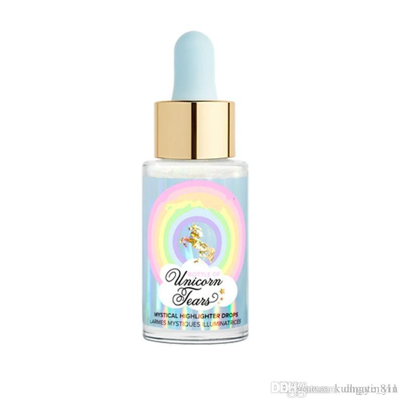 New Arrival Faced Unicorn Tears Bottle Of Mystical Highlighter Drops 6 Colors Professional Bronzers & High lighters Free Shipping
