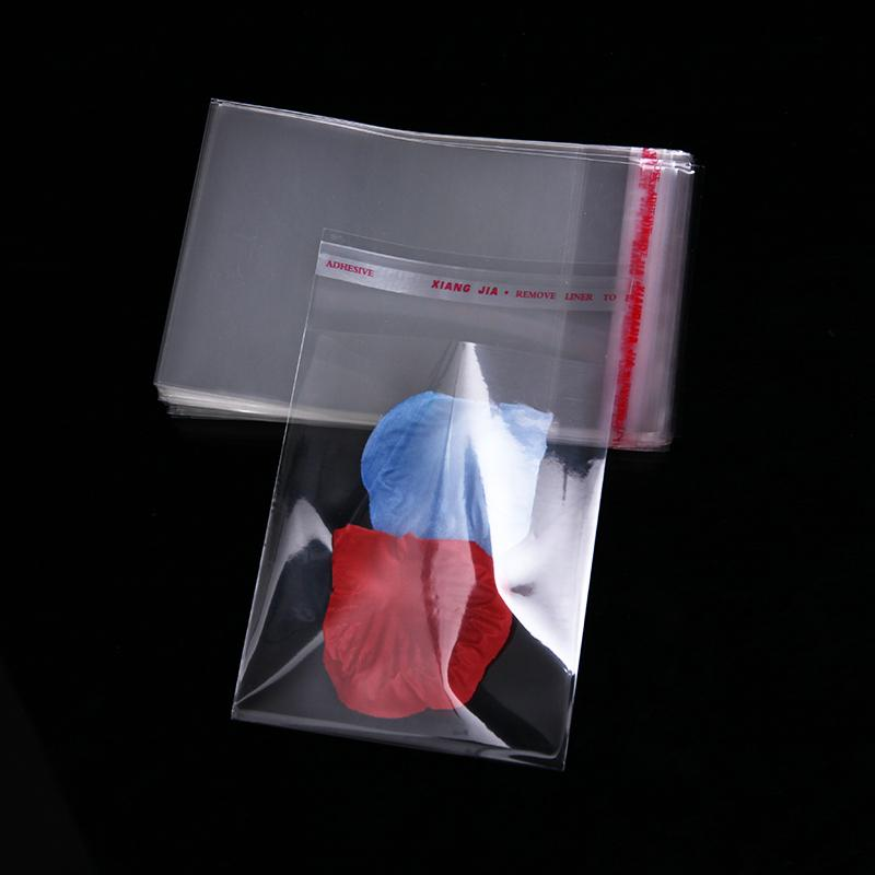 400pcs 12 x 14 cm New Transparent Self Adhesive Seal Plastic Bag for Candy Clear Small Cookie Packaging Bags