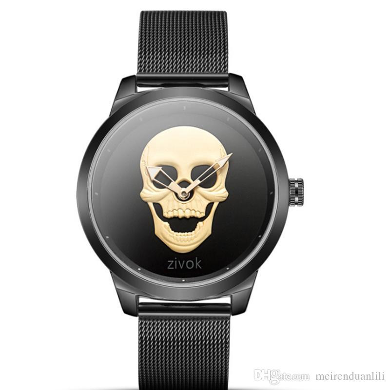 남자를위한 스컬 포켓 시계 멋진 군사 손목 시계 밴드 20mm 골드 로즈 골드 실버 3 색 럭셔리 블랙 시계 남성을위한 저렴한