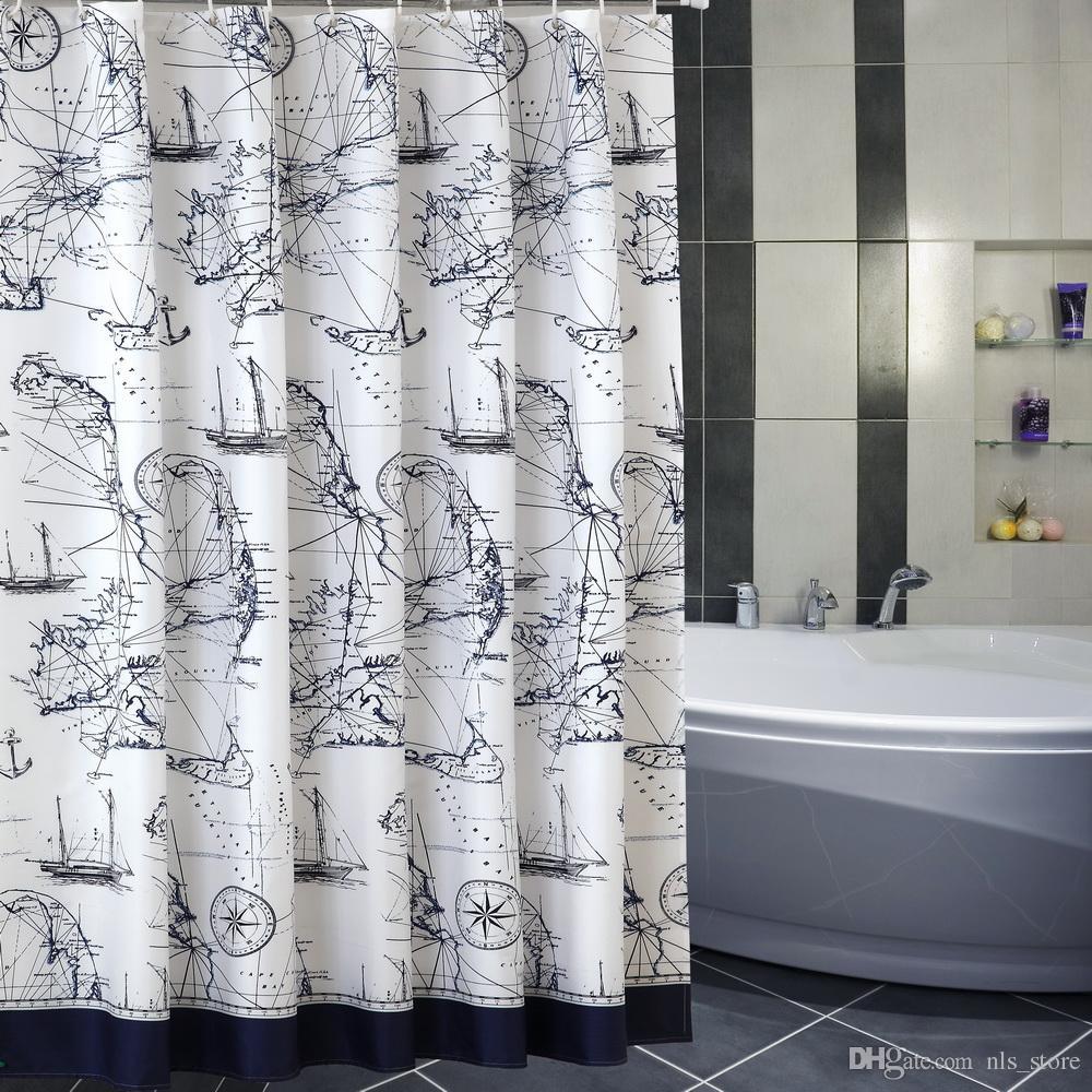 New Sealed White Plastic 12 Pcs C Hooks Bathroom Shower Curtain Rings