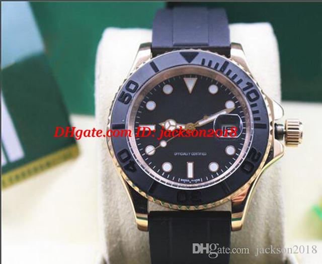 3 estilo reloj de pulsera de lujo de 40 mm de 18 quilates de oro blanco 116 655 Nueva mecánico automático relojes de los hombres de calidad superior
