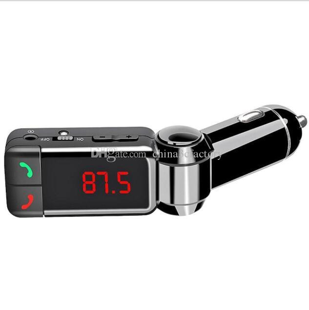 BC06 블루투스 MP3 차량용 충전기 BT 와이드 무선 음악 플레이어 지원 TF 카드 스피커 미니 듀얼 포트 충전 AUX FM 송신기 유니버설