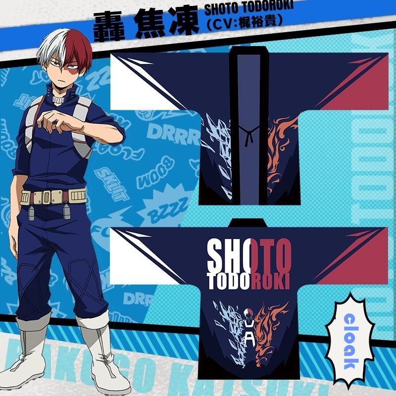 Asya Boyutu Japonya Anime My Hero Boku Hiçbir Kahraman Academia Shoto Todoroki Cosplay Cadılar Bayramı Kostüm Şifon Kimono Haori Coat Pelerin