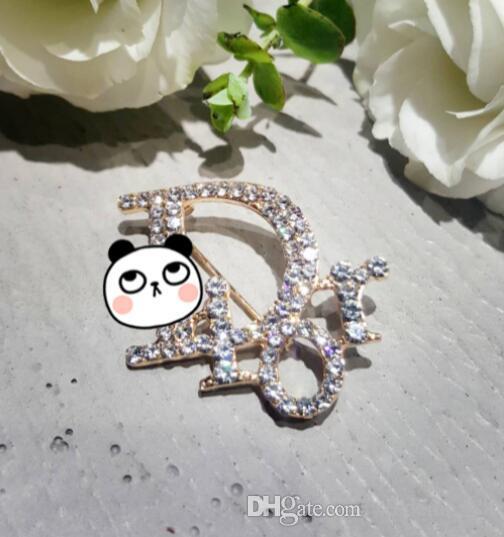Di alta qualità nuovo strass in lega inglese lettere spilla signore abito da sposa sposa pin accessori moda per feste