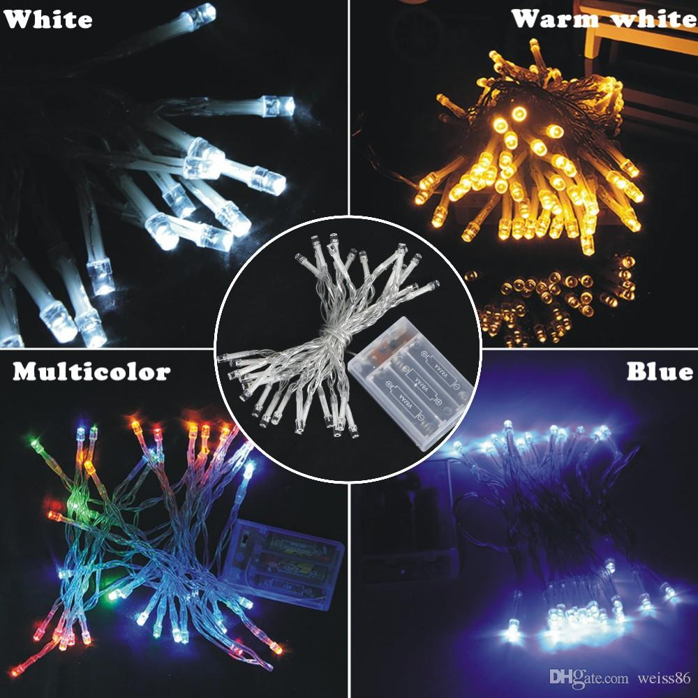 3XAA Battery Operated Fairy Lights 2M 20LEDs 3M 30LEDs 4M 40LEDs 5M 50LEDs LED Copper Wire Fairy String Lights for Christmas Home Party