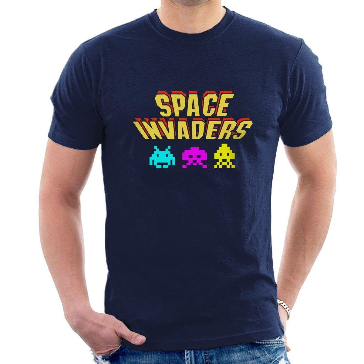 GREAT KIDS GIFT /& NAMED TOO SPACE INVADERS PERSONALISED CHILDS T-SHIRT