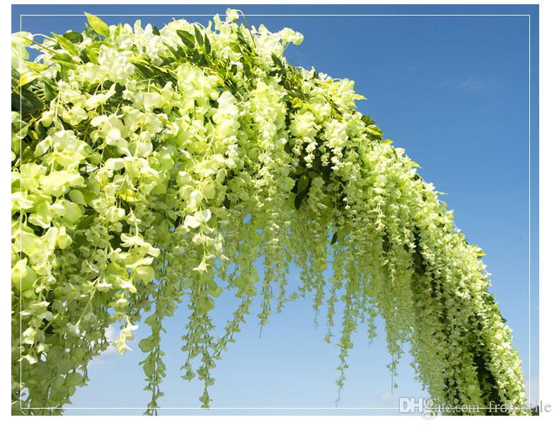 75/110 cm wisteria vine decorative artificial flower hanging flower wed decoration bouquet