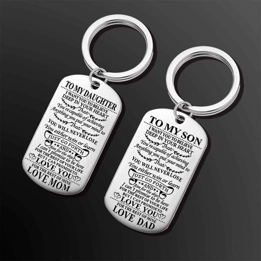 2018 حار جديد المقاوم للصدأ علامة المفاتيح سلسلة الأسرة قلادة الاكسسوارات الكلب بطاقة بطاقة العسكرية مجوهرات