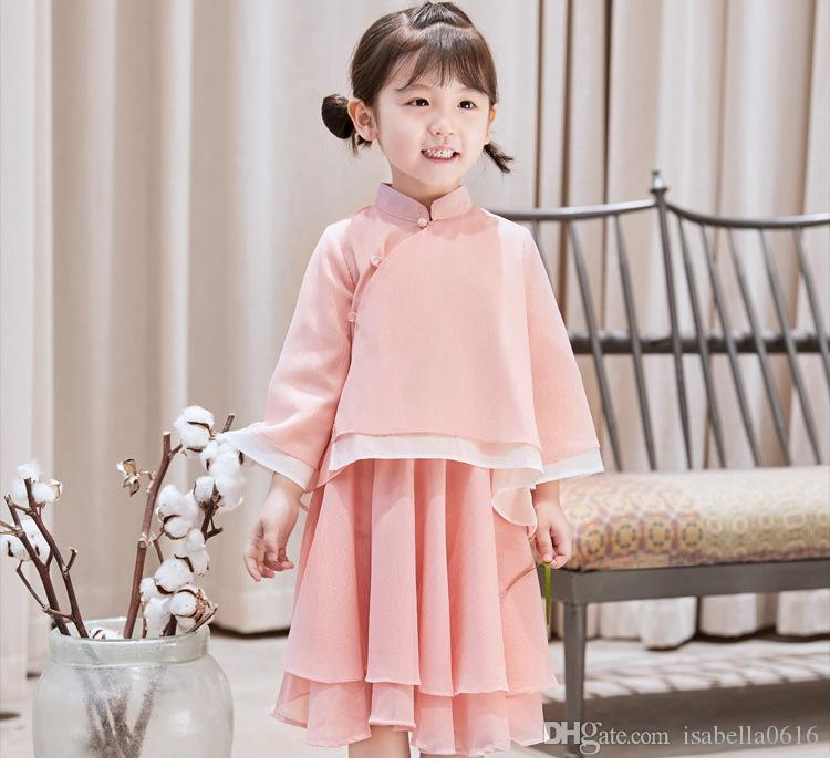 Traditional Chinese Dance Costumes Daily Girls Children Ancient Fairy Han Tang dynasty Qing Janfu Dress Child Teenage Kids Dress Dresses