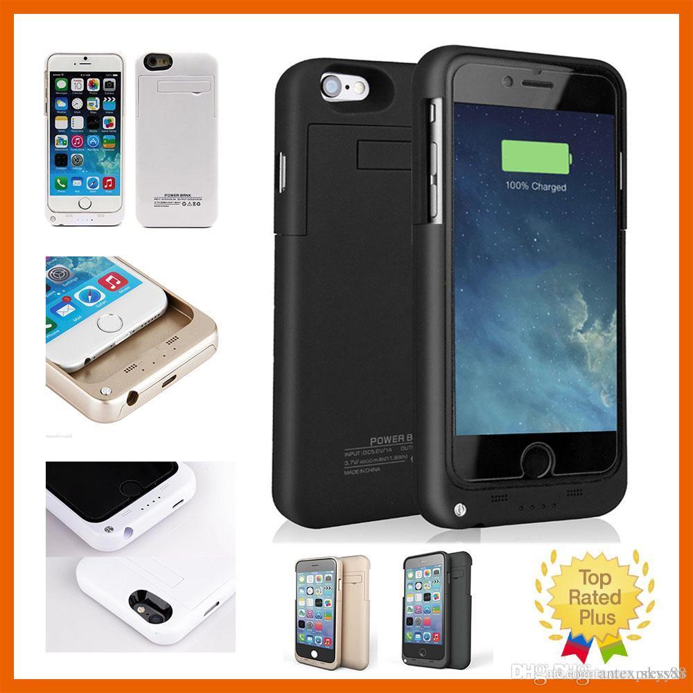 """Iphone 7 için Harici Akü Yedek Güç Bankası Şarj Kılıfı Powerbank durumda iphone 6 6 s Artı 4.7 """"5.5"""" inç"""