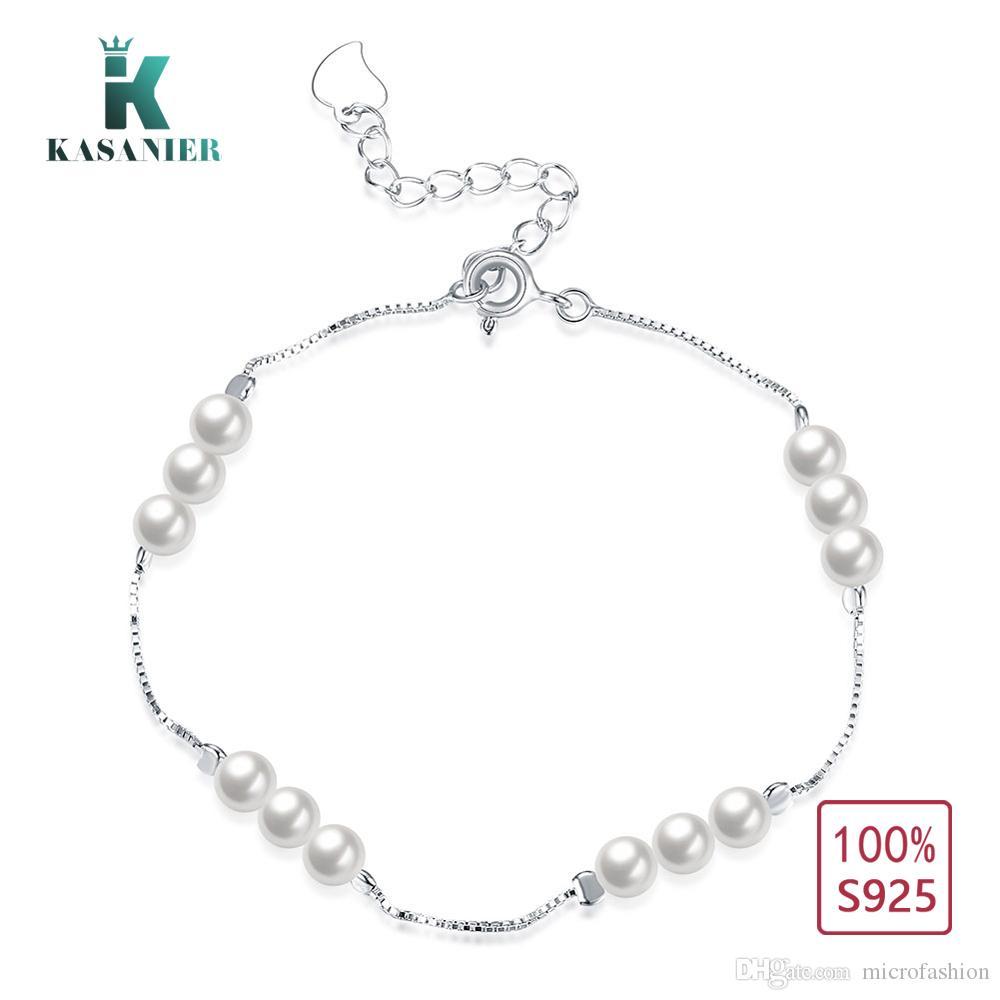 KASANIER Persönlichkeit neue 925 Sterling Silber Armband weiblichen einfachen Stil Sicke Charms Armband Großhandel Frauen Silber Schmuck