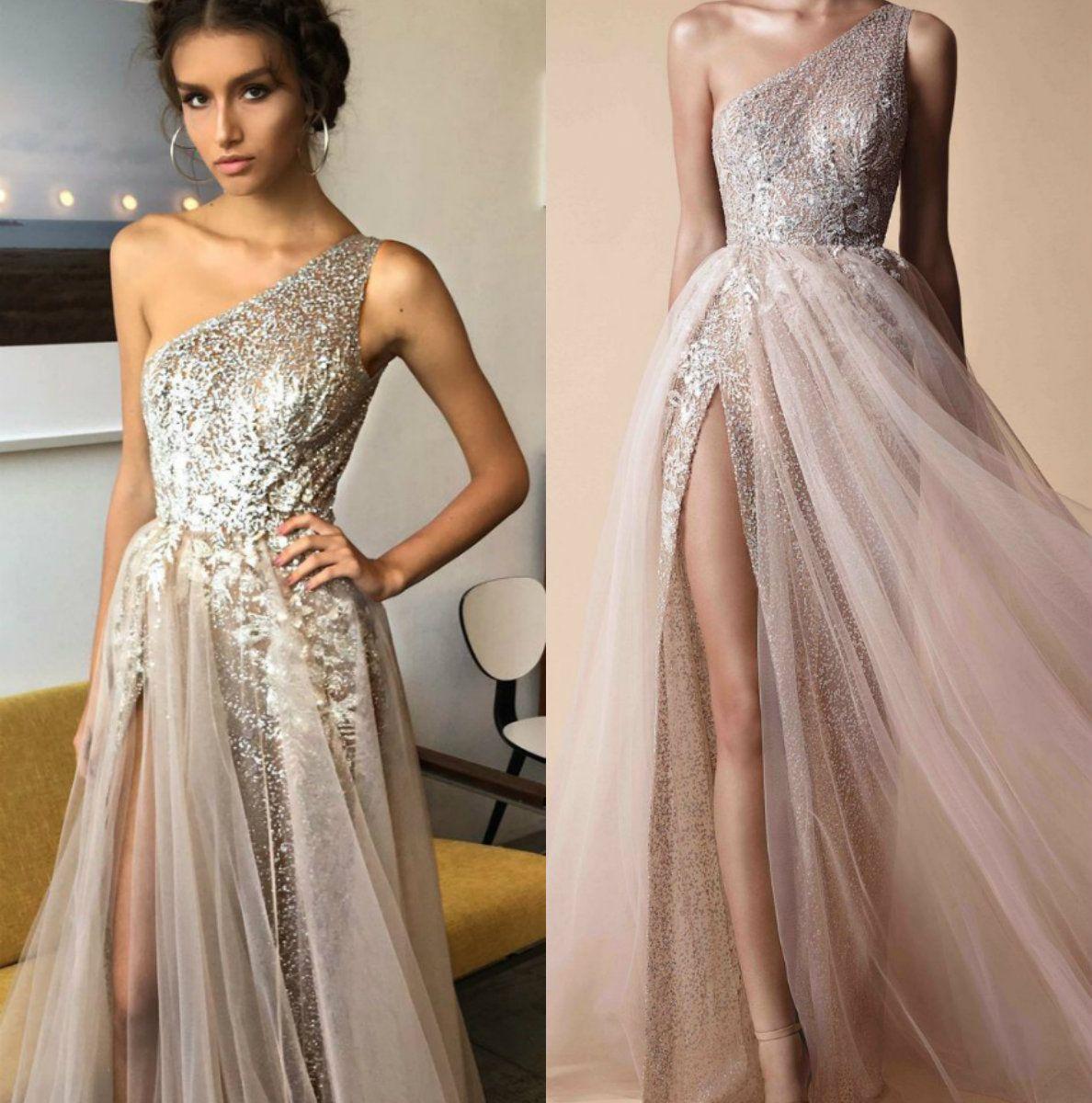 Floor Length One Shoulder Dress