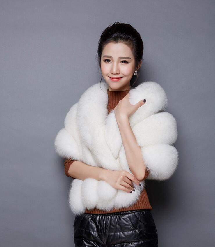 Blush Pink Faux Fur Bridal Shawl Fur Wraps Marriage Shrug Coat Jacket Bride Winter Wedding Party Boleros Cloak Burgundy Black White Red