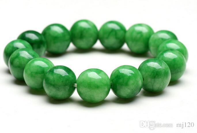 Natural Han Jade Bracelet 10-16MM Dry Green Jade Gemstone Jade Bracelet Wholesale