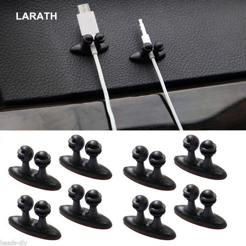 8 STÜCKE Mini Adhesive Car Charger Line Verschluss Clamp Kopfhörer / USB Kabel Auto Clip Autoinnenausstattung Kostenloser Versand