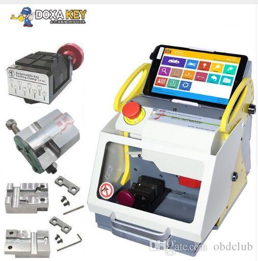 Good Quality automatic key cutting machine SEC-E9 portable smart duplicate car key cutting machine SEC E9 Work on Car, Truck, Motorcycle