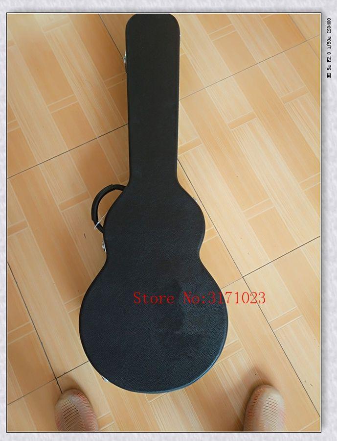 custodia rigida per chitarra elettrica L-p, chitarra elettrica marrone / nero Hardcase, molti colori inclusi, alcuni paesi spedizione gratuita