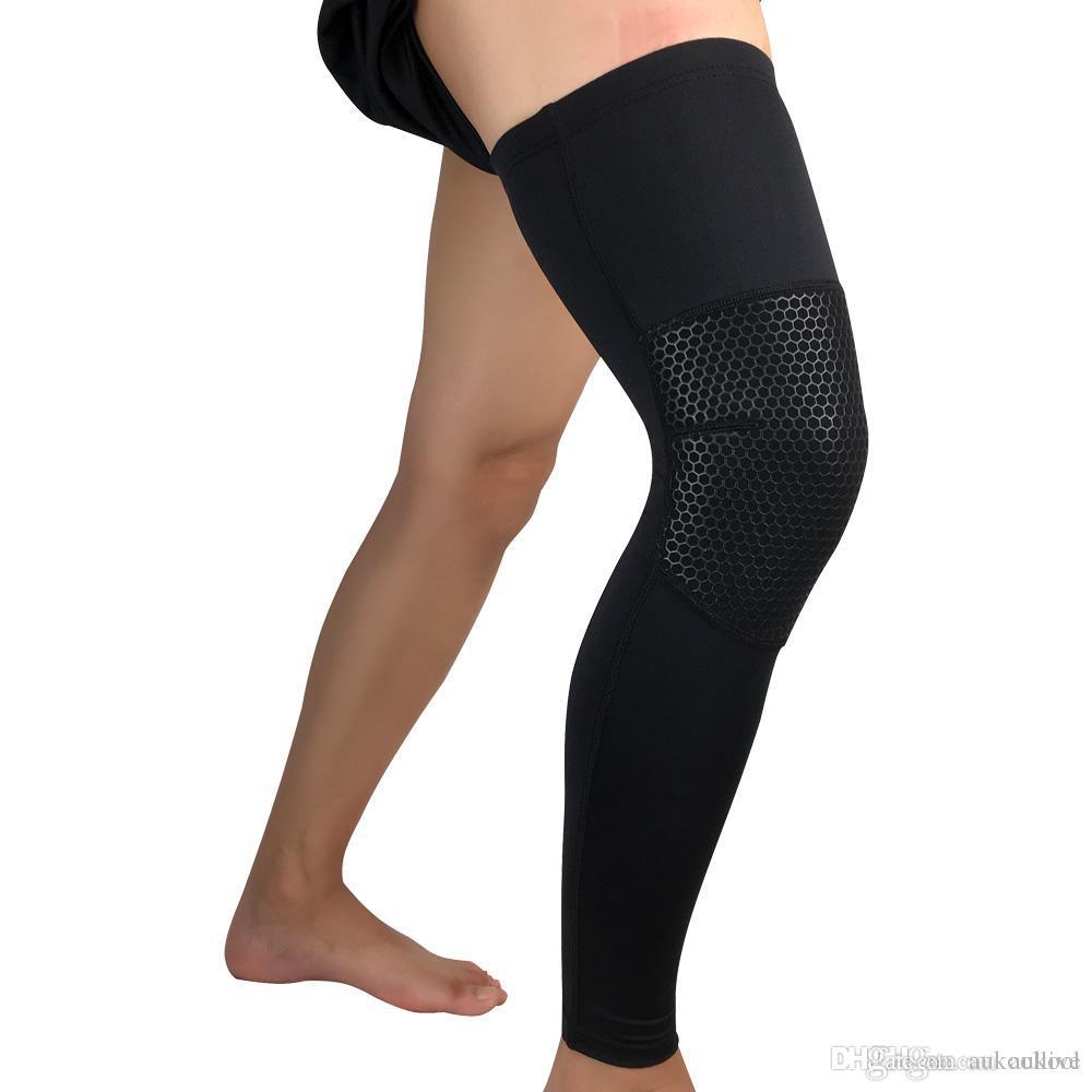 تدفئة الساق المهنية الرياضة الساق الأكمام حماية عدم الانزلاق الدراجات الجري كرة السلة الساق كم غطاء تصميم العسل