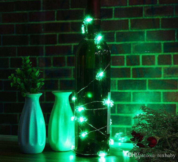 200CM Cactus 10 LED Guirlande Lumineuse De Noël À piles LED Fée Guirlande lumineuse Lampe De Noce Décoration Extérieure D'intérieur