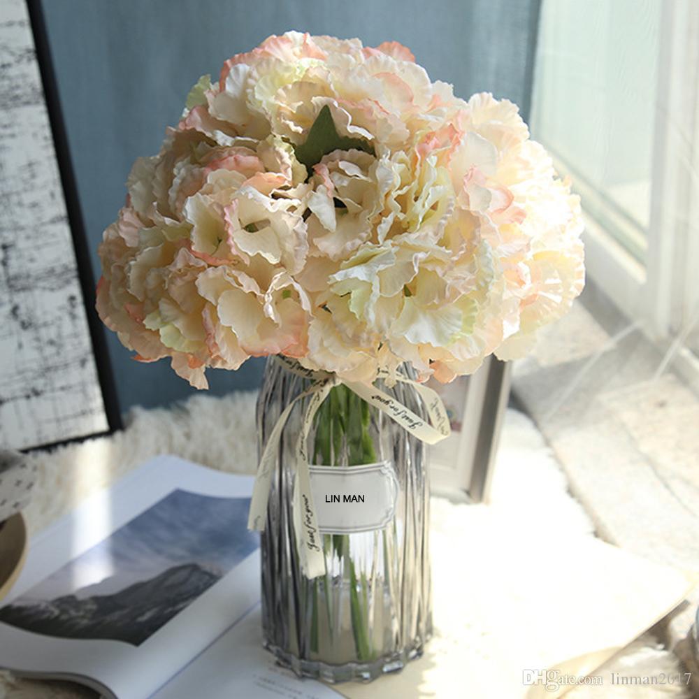 LIN MAN الحرير كوبية العروس باقة زهور اصطناعية لوازم الزفاف ديكور المنزل للعام الجديد لترتيب إناء الزهور