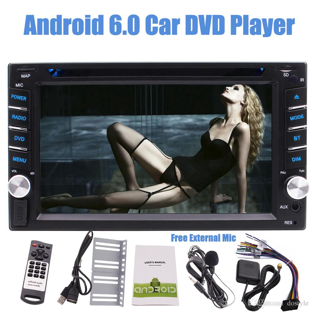 EinCar Double Din Car Stereo Android 6.0 Car DVD Player 6.2'' Touch Screen Multi-Color GPS Navigation Bluetooth Autoradio Mirror Link FM