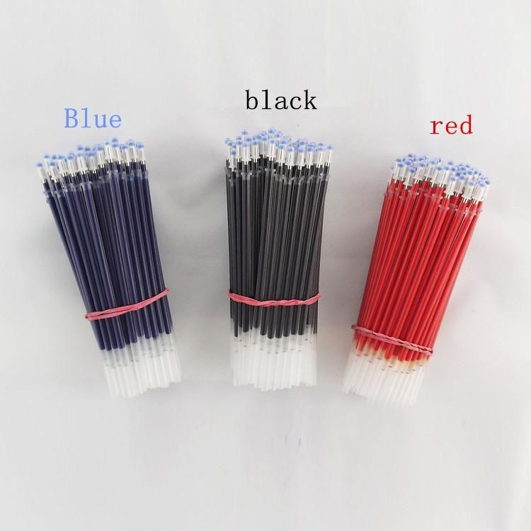 20pcs / lot stylo encre gel neutre recharge stylo neutre bonne qualité recharge noir bleu rouge 0.5mm 0.38mm bullet recharge bureau et école