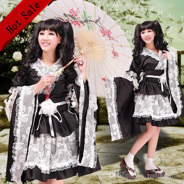New Lady Female Women Cosplay Costume Japanese Anime Long Girl Maid Dress