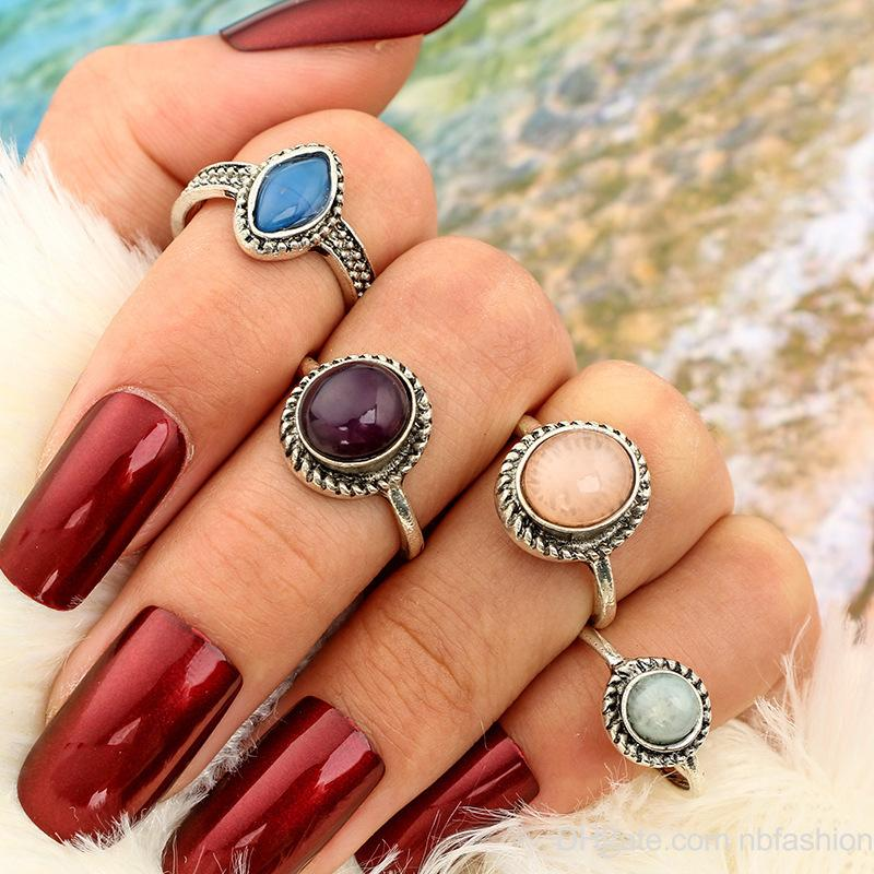 Restore Ancient Ways Do Used Personality Jewel Group Combine Set Ring New