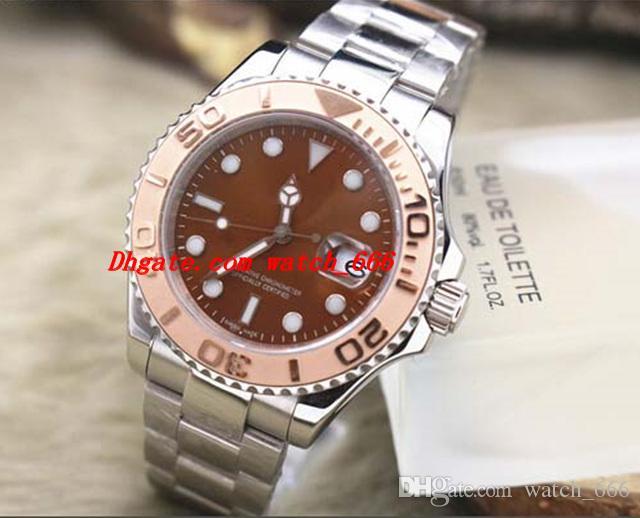 Reloj de los hombres del reloj de lujo 18k de oro rosa 116621-78801 pulsera de acero inoxidable de 40 mm de los hombres automáticos del reloj mira el envío libre