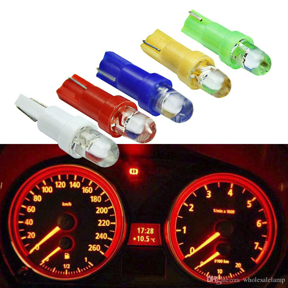 T5 LED Car Interior Dashboard Gauge Instrument Car Auto Side Wedge Light Lamp Bulb DC 12V White Red Blue Yellow Green