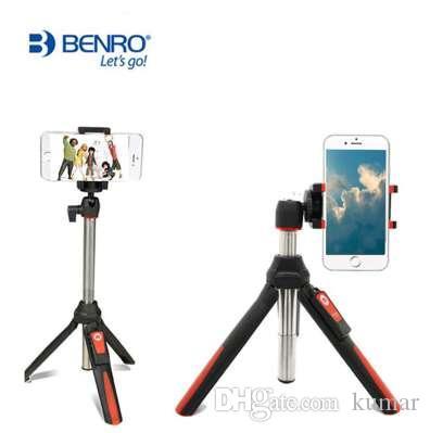 BENRO 33 Zoll Mini-Stativ Selfie Stick Bluetooth ausziehbar Einbeinstativ Selfie Stick Stativ für Smartphone und Gopro 4 5