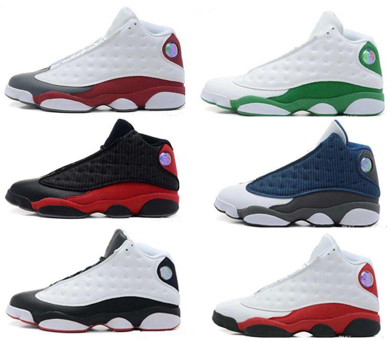 Tasarımcı ayakkabı Yeni 13 13 s Siyah Kedi 3 M Erkek Kadın Basketbol Ayakkabıları Yansıtacak 13 s Flint Bred Olive Gym Kırmızı Sneakers
