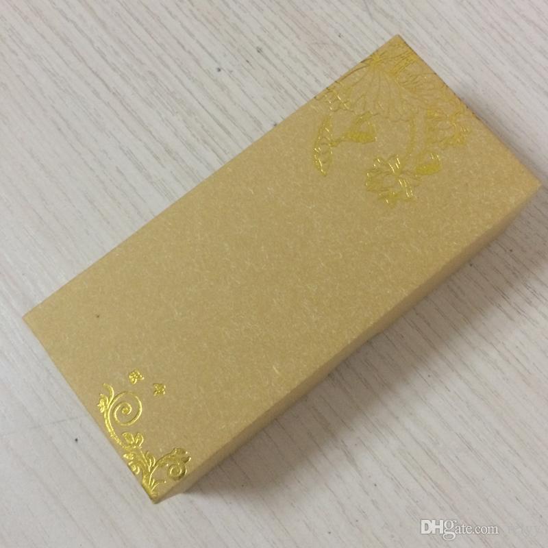 10 Sztuk Uroczysty Opakowanie papieru z pudełkiem Pudełko Pudełko Pudełko Prostokątne Pole Pudełko 120x55x30mm 4.72 x 2,17 x 1,18 cal
