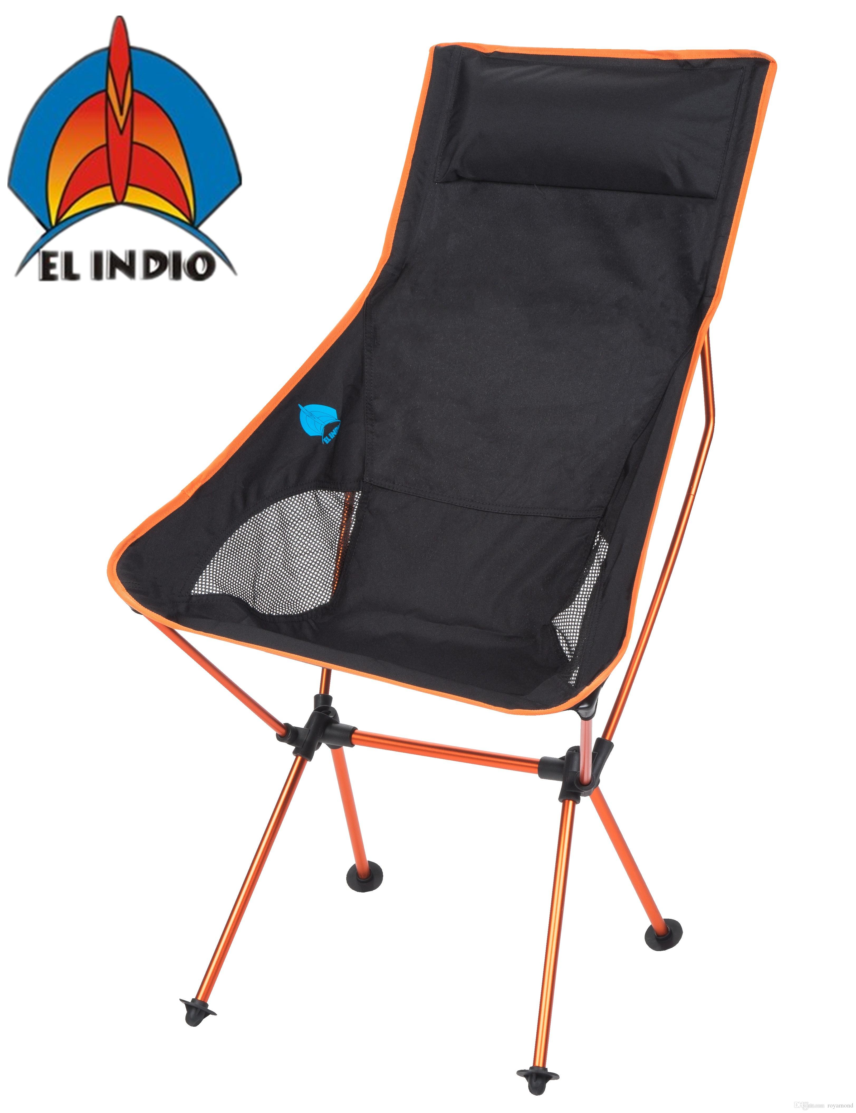 El Indio Fishing Chair Folding Camping Chairs Ultra Lightweight Folding Portable Outdoor Hiking Lounger Bbq Picnic Chair Garden Table Patio Chairs